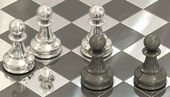 Chess pawns — Foto Stock