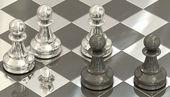 Chess pawns — Stock Photo