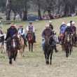 Stock Photo: Group of Horse Riders in Outback