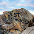Just married — Stockfoto