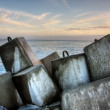Breakwater, ocean wall — Stock Photo
