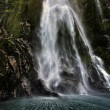 Stock Photo: Milford Sound Waterfall