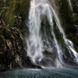 Milford Sound Waterfall — Stock Photo