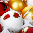 Stock Photo: Glass christmas ornaments