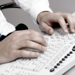 Typing on keyboard — Stock Photo