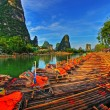 Stock Photo: Bamboo Rafts