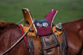 Nomad horse saddle — Stock Photo
