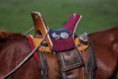 Nomad horse saddle — Stock Photo
