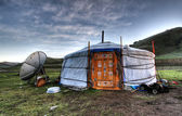 Mongolian dwelling — Stock Photo