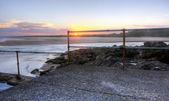 Pláž za soumraku — Stock fotografie