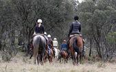 Group of horseriders — Stock Photo