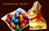 Easter holidays chocolate image — Stock Photo