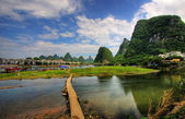 Li river karst mountain landscape — Stock Photo