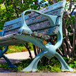 Lakeside bench — Stock Photo