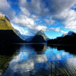 Mitre Peak in low tide — Stock Photo