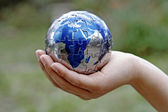 Caring for Earth and protecting our future — Stock Photo