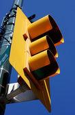 Luz amarilla de la calle — Foto de Stock