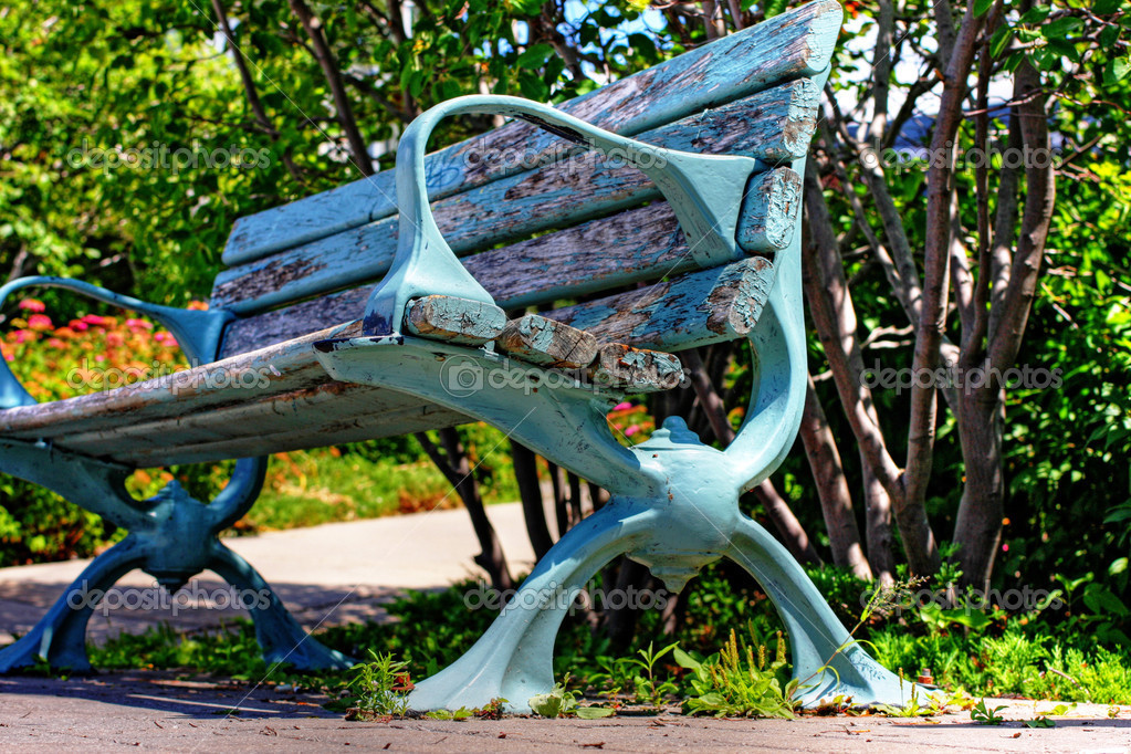 Lakeside bench in Lake Huron  Stock Photo #3370852