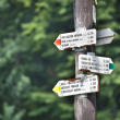 Stock Photo: Route marks in Slovak Paradise mountains