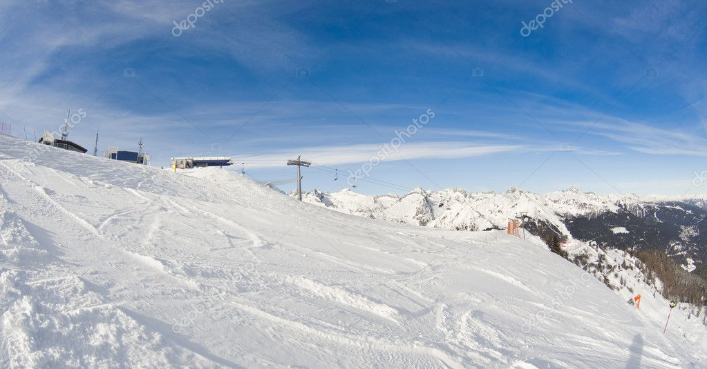 Winter landscape - photo taken in italian dolomites  Stock Photo #3063245