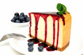 Cheesecake And Blueberries — Stock Photo
