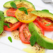 Avocado And Tomato Salad - Stock Photo