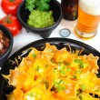 Stock Photo: Beer And Nacho's