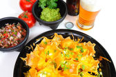 Beer And Nacho's — Stock Photo