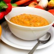 Stock Photo: Fresh Veggies And Vegetable Soup