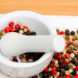 Red Green And Black Peppercorns — Stock Photo