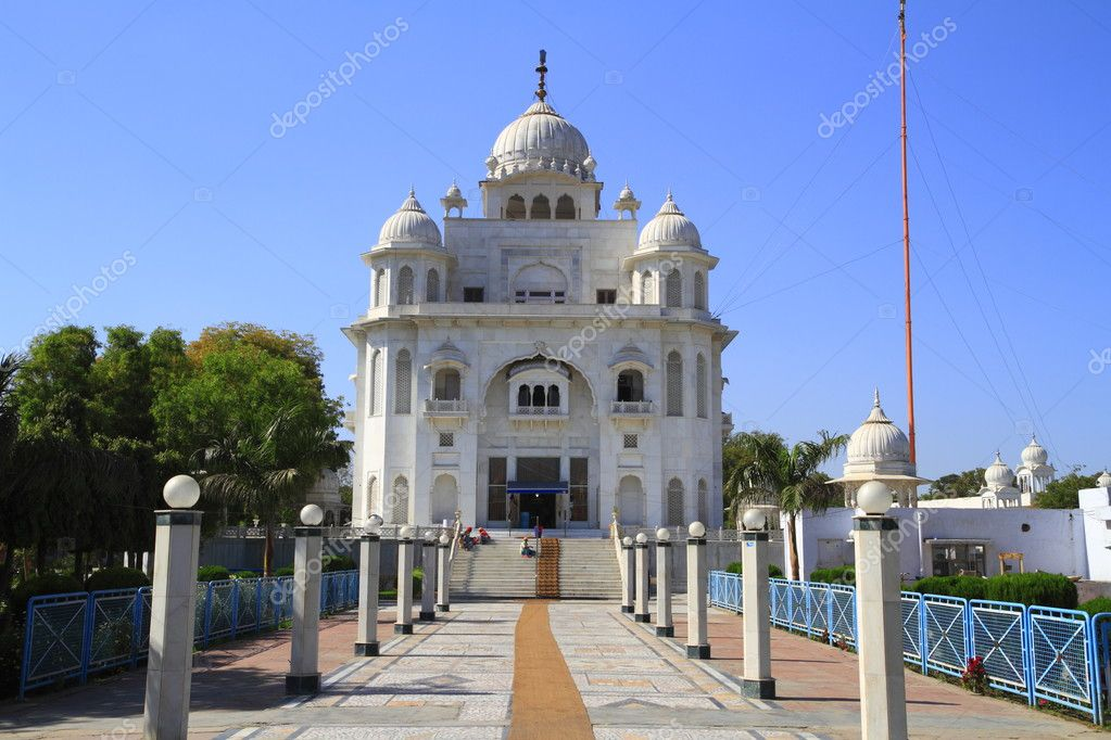 The Gurdwara Rakab Ganj Sahib in Delhi, India  Foto de Stock   #2935003