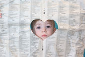 Boy with paper — Stock Photo