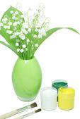 Farby i kwiaty — Zdjęcie stockowe