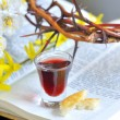 Taking Communion - Stock Photo