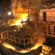Molten hot steel pouring — Stock Photo #2867535