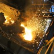 Foto de Stock  : Molten hot steel pouring