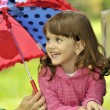 Royalty-Free Stock Photo: Little girl with umbrella