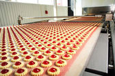 Production cookie in factory — Stock Photo