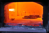 Factory oven for steel — Stock Photo