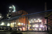 Steel plant at night — Stock Photo