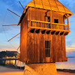 Old mill nesebar — Stock Photo