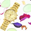 Gold woman watch — Stock Photo