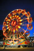 Ferris wheel in a summer night — Stock Photo
