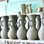 Drying ceramic vase — Stock Photo #3625270