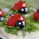 Ladybug tomato — Stock Photo #3703837