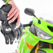 Motorcyclist gloves — Stock Photo