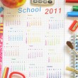 Royalty-Free Stock Photo: Calendar with school things