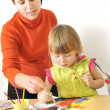 Activity in preschool — Stockfoto