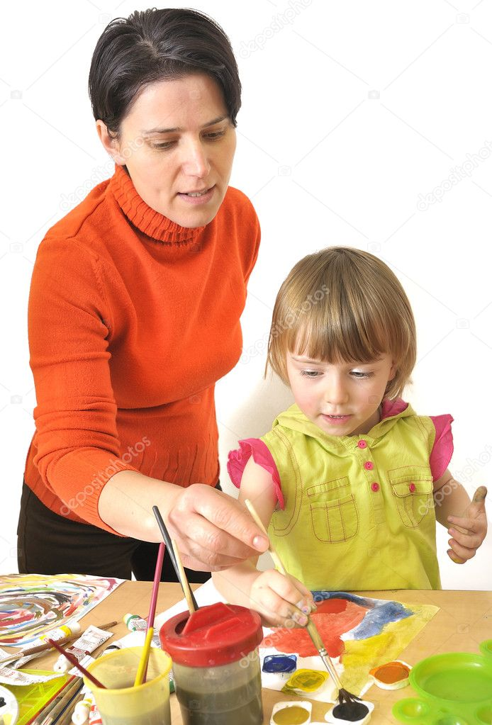 Activity in preschool works  in studio  Stock Photo #3792973