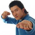 Asian man posing on a white — Stock Photo #2718517